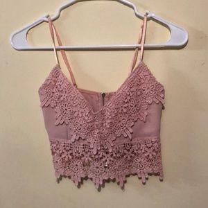 Windsor blush pink crop top